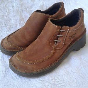 Dr Martens Shoes Slip Ons Loafers Brown Nubuck